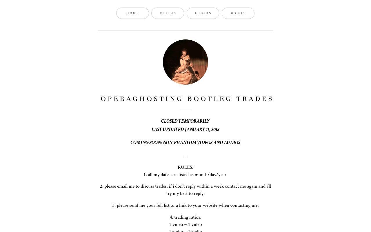 operaghosting: bootleg trading
